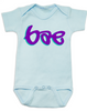 Bae Bodysuit, bae baby onsie, too lazy to say baby, mommy's little bae, daddy's bae, blue