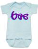 Bae Bodysuit, bae baby onsie, too lazy to say baby, mommy's little bae, daddy's bae, blue