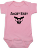 Angry Birds baby Bodysuit, angry baby onsie, funny video game baby clothes, pink