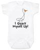 I quack myself up baby Bodysuit, funny ducky baby onsie, I crack myself up, cute and funny baby gift