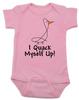 I quack myself up baby Bodysuit, funny ducky baby onsie, I crack myself up, cute and funny baby gift, pink