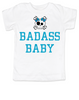 Badass toddler shirt, Personalized badass girl toddler t-shirt, customized cool kid baby shower or birthday gift, punk rock kid tee with with Skull and crossbones