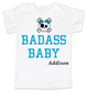 Badass toddler shirt, Personalized badass  boy or  girl toddler t-shirt, customized cool kid baby shower or birthday gift, punk rock kid tee with with Skull and crossbones, custom name