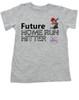Future Home Run Hitter toddler shirt, Future Baseball Player, Play Ball, Boy Baseball player,  Sports toddler t-shirt, personalized with custom name, grey