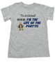 3's a crowd toddler shirt, I'm the life of the party toddler shirt, funny kid or toddler gift for third child, three's a crowd, Whatever dude toddler t-shirt, 3rd child is the best, grey