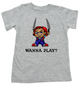 Chucky toddler shirt, Chucky kid tee, Unique Halloween toddler shirt, horror movie toddler t-shirt, Chucky Wanna Play?, grey