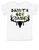 Daddy's Got Game toddler shirt, Future hunting buddy, Little hunter, dad loves to hunt, deer hunting, big buck, deer antlers, camo kid, hunting with dad toddler t-shirt, white