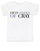 Fifty Shades of Cray toddler shirt, 50 shades of grey, Fifty Shades of grey toddler t-shirt, cray cray kid, crazy kid, mommy read fifty shades book, bookish toddler shirt, white
