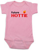 Future Hottie Baby Bodysuit, Little Cutie, Future Stud, Future Supermodel, Very Attractive baby onsie, pink