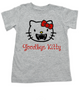 Goodbye Kitty toddler shirt, Hello Kitty Vampire toddler t-shirt, Goodbye Kitty kid tee, Cute Halloween toddler shirt, grey