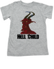 Hell Child toddler shirt, Wild Child, crazy kid, Little Rebel, demon spawn, devil kid, grey