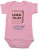 Cereal Killer baby Bodysuit, horror movie baby onsie, bowl of cereal, Cereal Killer, Punny baby, pink