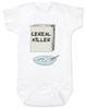 Cereal Killer baby Bodysuit, horror movie baby onsie, bowl of cereal, Cereal Killer, Punny baby