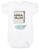 Cereal Killer baby Bodysuit, horror movie baby onsie, bowl of cereal, Cereal Killer, Punny baby
