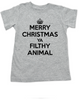 Merry Christmas Ya Filthy Animal, Keep Calm Christmas toddler shirt, Home Alone, Keep Calm Filthy Animal toddler t-shirt, funny christmas kid tee