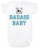 Badass Baby Bodysuit, Personalized badass baby boy onsie, cool kid baby shower gift, punk rock baby bodysuit with Skull and crossbones