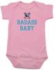Badass Baby Bodysuit, Personalized badass baby boy or baby girl onsie, cool kid baby shower gift, punk rock baby bodysuit with Skull and crossbones,