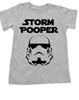 Star Wars toddler shirt, funny star wars for kids, Storm Pooper toddler shirt, funny storm trooper shirt, grey