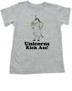 Unicorns Kick Ass toddler shirt, funny unicorn toddler shirt, badass unicorn kid t-shirt, badass little girl shirt, grey