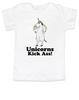 Unicorns Kick Ass toddler shirt, funny unicorn toddler shirt, badass unicorn kid t-shirt, badass little girl shirt