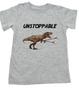 Unstoppable T-Rex dinosaur toddler shirt, T-Rex with grabbers, unstoppable trex, funny dinosaur toddler shirt, unstoppable dinosaur, trex toddler shirt, grey