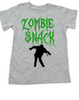 Zombie Snack toddler shirt, Zombie kid, Halloween toddler shirt, Funny Halloween kid shirt, grey