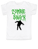 Zombie Snack toddler shirt, Zombie kid, Halloween toddler shirt, Funny Halloween kid shirt, white