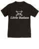 Little Badass toddler shirt, rock and roll toddler t-shirt, gift for cool parents, skull and crossbones kid clothes, Little Badass kid shirt, Cool kid t-shirt, black