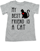 My Best Friend is a Cat toddler shirt, Kitty Cat Love toddler t-shirt, kids Best Friend, Fur baby best friend, Love my Cats toddler shirt, personalized cat lover toddler shirt, unique baby shower or birthday gift, personalized kid birthday gift, cute I love my cat kid clothes, badass cat toddler shirt, Rescue kitty toddler shirt, grey