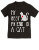 My Best Friend is a Cat toddler shirt, Kitty Cat Love toddler t-shirt, kids Best Friend, Fur baby best friend, Love my Cats toddler shirt, personalized cat lover toddler shirt, unique baby shower or birthday gift, personalized kid birthday gift, cute I love my cat kid clothes, badass cat toddler shirt, Rescue kitty toddler shirt, black