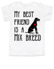My Best Friend is a Mix Breed toddler shirt, Mixed Breed Puppy Love toddler t-shirt, kids Best Friend, Love-a-Mutt, personalized dog lover toddler shirt, unique baby shower or birthday gift, personalized kid birthday gift, cute I love my dog kid clothes, badass dog toddler shirt, Rescue dog toddler shirt, I love my rescue dog kid tee, toddler shirt with custom dog name, personalized toddler shirt