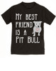 kids Best Friend, Love-a-bull toddler shirt, personalized dog lover toddler shirt, cute pit bull kid clothes, badass dog toddler shirt, I love my pit bull toddler shirt, pit bull best friend toddler shirt, black