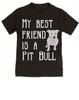 kids Best Friend, Love-a-bull toddler shirt, personalized dog lover toddler shirt, cute pit bull kid clothes, badass dog toddler shirt, I love my pit bull toddler shirt, pit bull best friend toddler shirt, black