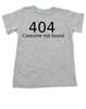 404 error costume not found baby onesie, child 404 costume not found, computer error, Geeky Halloween baby onesie, Nerdy baby halloween onsie