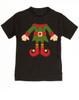 Elf Body Christmas toddler shirt, Little bodies toddler t-shirt, Santas little elf, Christmas party kid t shirt, cute funny christmas kid clothes, santas helper, Elf kid, black