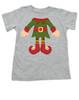 Elf Body Christmas toddler shirt, Little bodies toddler t-shirt, Santas little elf, Christmas party kid t shirt, cute funny christmas kid clothes, santas helper, Elf kid, grey