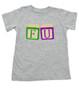 FU blocks toddler shirt, f bomb toddler t-shirt, wooden blocks, rude blocks, offensive kid t shirt, F you kid, grey
