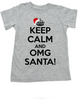Keep Calm OMG Santa toddler shirt, Keep Calm toddler shirt, funny christmas toddler t-shirt, omg santa kid shirt, grey