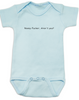 Nosey Fucker Baby Bodysuit, Don't touch the baby, back up, personal space, rude baby onsie, funny offensive infant bodysuit, blue