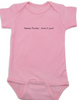 Nosey Fucker Baby Bodysuit, Don't touch the baby, back up, personal space, rude baby onsie, funny offensive infant bodysuit, pink