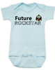 Future Rockstar personalized baby Bodysuit, Future Rock Star Onsie, Rock and Roll, Musician parents, guitar player, Rock music, Rocker baby, blue