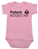 Future Rockstar personalized baby Bodysuit, Future Rock Star Onsie, Rock and Roll, Musician parents, guitar player, Rock music, Rocker baby, pink