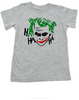 The Joker toddler shirt, Joker Halloween toddler t-shirt, batman joker toddler shirt, batman villain toddler shirt, grey