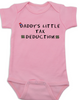 Daddy's Little Tax Deduction baby Bodysuit, Dads tax deduction, Uncle Sam, funny tax time baby onsie, pink