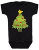 pokemon christmas baby Bodysuit, holiday geek baby, pikachu christmas tree, funny christmas baby clothes, black