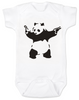 Banksy panda with guns baby Bodysuit, Banksy baby clothing, white
