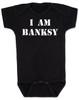 I am Banksy baby Bodysuit, Banksy baby clothing, black