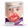 Funny Lips Pacifier, Baby lips, baby shower gag gift, funny girl pacifier, lips binky, funny binkie, chill baby, big red lips, packaging