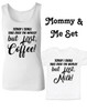 Funny Mommy & Me Gift Set, Mommy and Me matching set, But First Milk toddler shirt, but first coffee ladies tank top, coffee mom gift, today I shall take over the world, but first coffee, but first milk, coffee lover mom shirt with matching kid shirt