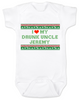 I love my drunk uncle baby Bodysuit, funny uncle baby Bodysuit, funny baby gift from uncle, personalized uncle Bodysuit for infant, ugly christmas sweater baby Bodysuit, personalized ugly christmas sweater Bodysuit, drunk uncle baby onsie, funny christmas baby clothes, I love my funny uncle infant bodysuit, personalized with custom name